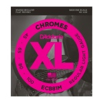 ECB81M Chromes Bass Комплект струн для бас-гитары, Light, 45-100, Medium Scale, D'Addario
