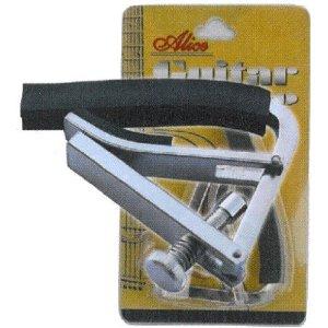 A007F-A Каподастр для акустической гитары, металлический на винте, в блистере Alice