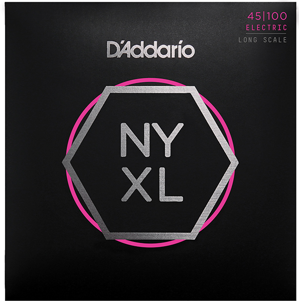 NYXL45100 NYXL Комплект струн для бас-гитары, Long Scale, Regular Light, 45-100,D'Addario