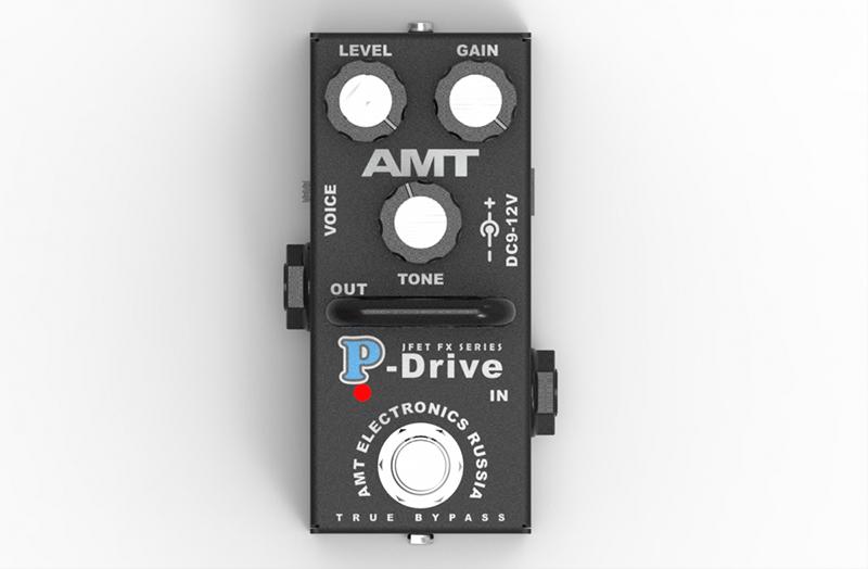 PD-2 P-Drive mini Гитарная педаль перегруза, AMT Electronics